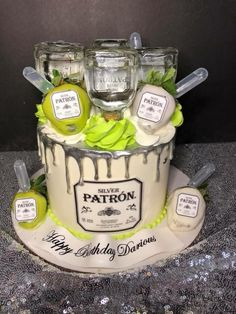 How do you want tequila on your cake? Birthday Cakes For Men, Birthday Ideas, Birthday Beer, 21 Birthday, Hubby Birthday, Birthday Gifts, Fancy Cakes, Cute Cakes, Tequila Cake