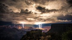 A lightning storm over the Grand Canyon creates some of the most stunning lightning photos we've seen in years.