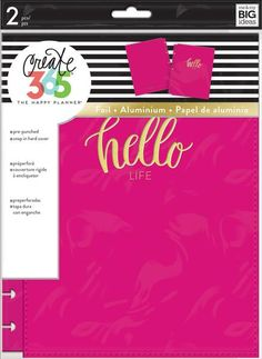 Create 365 The Happy Planner Snap in Hard Cover Pink Heart (Classic) by Me & My Big Ideas For Planners and Bullet Journals Planners, Happy Planner Cover, Hello Life, Create 365, Easy Paper Crafts, Paper Crafting, Planner Book, Paper Flower Tutorial, Scrapbook Supplies