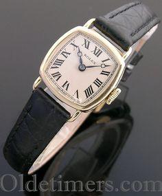 ee646b782b7 1920s 18ct gold ladies square vintage Rolex watch (3800) Vintage Rolex