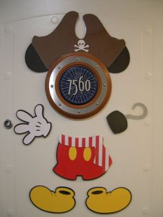 Mickey Mouse Part Magnets WITH Pirate Accessories (10 Pcs) - Great for Decorating Your Stateroom Door on Your Next Disney Cruise on Etsy, $19.50