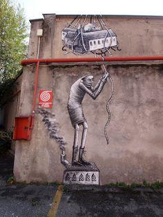 Phlegm #street art #graffiti