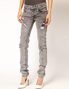 Image 1 ofCheap Monday Narrow Holey Skinny Jeans