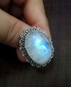 Silver Bracelet For Womens India Info: 6830297923 Moonstone Pendant, Moonstone Ring, Tribal Jewelry, Copper Jewelry, Silver Rings Handmade, Sterling Silver Rings, Gypsy Rings, Gold Wedding Jewelry, June Birth Stone