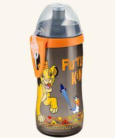 BPA NUK Beach Junior Cup 300 ml mit Push-Pull-Tülle mit Clip auslaufsicher