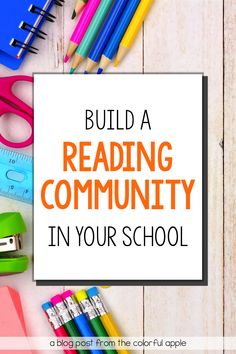 Check out these 5 tips to help create a school reading community! Great ways to get all students, staff and families engaged in books! Teaching Second Grade, 5th Grade Reading, School Community, Classroom Community, Book Bulletin Board, Reading Display, Teacher Resources, Teacher Blogs, Reading Resources