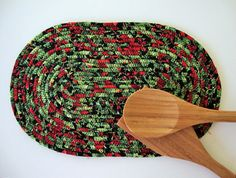 OVAL FABRIC COIL Trivet  Oval Fabric Trivet  by Jambearies on Etsy