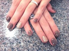 Fall Nails - Taupe nail color! Nail Design, Nail Art, Nail Salon, Irvine, Newport Beach