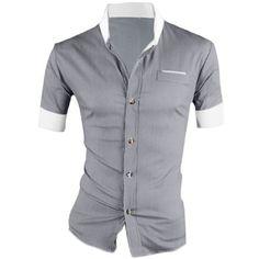 Allegra K Men Short Sleeves Slim Fit Button Down Shirt, http://www.amazon.com/dp/B014QKE42O/ref=cm_sw_r_pi_awdm_d9o4wb05A1TKH