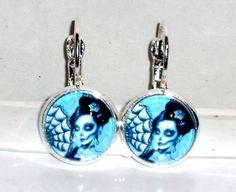 Ohrringe Gothic Damen Hänger Ohrschmuck Modeschmuck ohne Stein Schnappverschluss