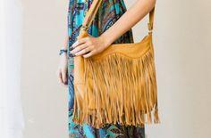 Genuine Leather Fringe Bag like the dress too!!