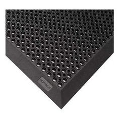 Entrance Mat, Rubber, Black, 3 x 5 ft by Notrax. $151.13. Entrance Mat, Outdoor, Material Rubber, Color Black, 5 ft Length, 3 ft Width, 1/2 In. Thickness, Backing Rubber, Border Beveled, Edges Beveled Edges, Lays Flat to Reduce Tripping, Design Drainage Holes, Construction Drainage Holes with Raised Knob Underside, Carton Quantity 1