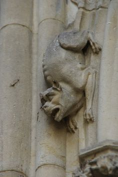 Amiens Cathedral, France | Gargoyles and monsters carved in stone