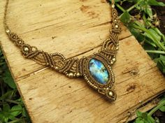 Lovely labradorita Macrame necklace with amazing by ArtOfGoddess