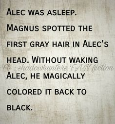 Malec | Magnus and Alec aging | Depressing headcanon | TMI Shadowhunters