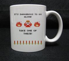It's Dangerous To Go Alone The Legend Of Zelda mug cup two side ceramic 11oz