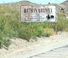 Oatman, Arizona. Old mining town on Route 66