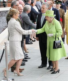 Queen Elizabeth II Photos Photos - Queen Elizabeth II arrives at the Titanic Building on Day 2 of her visit to Northern Ireland on June 27, 2012 in Belfast, Northern Ireland. The Queen shook hands with Northern Ireland's deputy first minister and former IRA commander Martin McGuinness for the first time when they met inside the Lyric theatre. The Queen and Duke of Edinburgh are on a Diamond Jubilee visit to Northern Ireland. - Queen Elizabeth II And Prince Philip, Duke Of Edinburgh Visit…