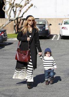 Rachel Zoe & Baby Skyler Hit Hugo's Cafe in Co-ordinated Stripes