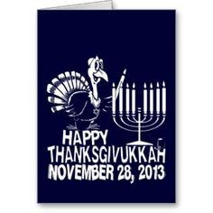 Shop Happy Thanksgivukkah Greeting Cards created by LaughingShirts.