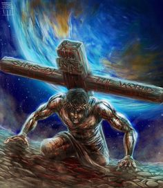 Strongest Man Alive by MarcusThomas on DeviantArt Pictures Of Jesus Christ, Bible Pictures, Christian Warrior, Christian Art, Strongest Man Alive, Black Art Pictures, Black Jesus Pictures, Jesus Painting, Jesus Art