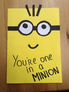 2 funny handmade card ideas for girlfriend i liked it made a minion birthday card got the idea from pinterest bookmarktalkfo Image collections