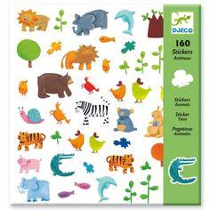 160 stickers Animaux Djeco