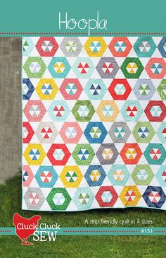 Hoopla quilt pattern || Cluck Cluck Sew -- $9.00