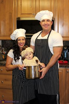 Chefs and Spaghetti & Meatballs Family Halloween Costume Idea