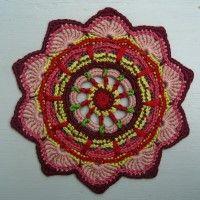 Crochet Mandala Wheel made by Virginia, Australia, for yarndale.co.uk