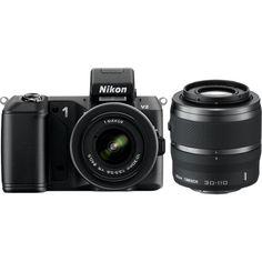 #nikon #nikkor #lens Nikon 1 V2 14.2 MP HD Digital Camera with 10-30mm & 30-110 VR 1 NIKKOR Lens (Black) $996.95. Get here!