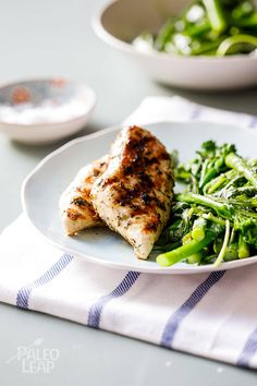 Lemon & Herb Grilled Chicken with Spring Vegetable Salad