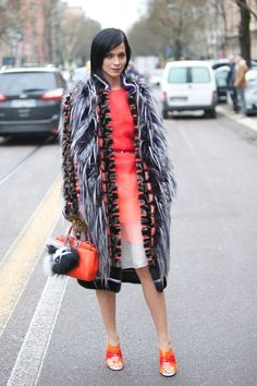 Street Style Photos Milan Fashion Week - Fall 2014 Street Style PIctures MFW - ELLE
