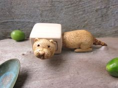 CUSTOM order Miniature drawer with a cute otter otter box by plad