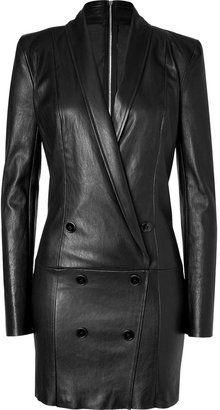 ShopStyle: Jitrois Black Stretch Leather Dress