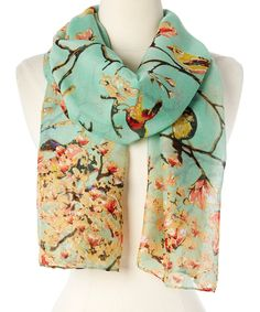 Look what I found on #zulily! Green Floral Scarf by Rapti #zulilyfinds