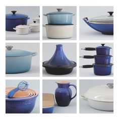 Le Creuset blue series - TJ is wanting these pretty badly. Maybe for his Christmas and birthday gifts?