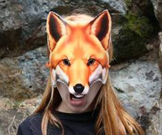 Friendly but hungry, this furry guy is the perfect mask for that fox costume. Makes for a great mask to print! This is one of our most popular selling masks.