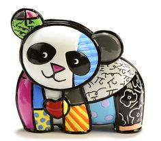 Features:  -Material: Polyresin.  -Multi-colored.  -Designed by renowned pop artist Romero Britto.  Product Type: -Figurine.  Style: -Contemporary.  Theme: -Animal.  Subject: -Wild animals.  Finish: -