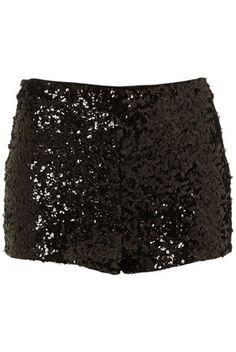 Black Sequin Knicker Shorts