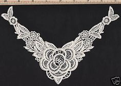You can make wonderful Vintage Victorian Embellishments with these versatile Venise Lace Appliques.