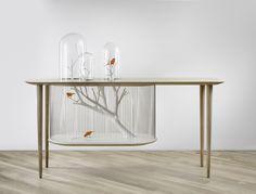La table cage à oiseaux - La boite verte