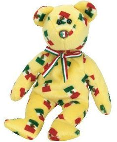 40d8cd17639 TY Beanie Baby - PINATA the Bear (Mexican Flag Nose)