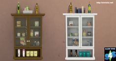 Simista A little sims 4 blog : Glass Wall Cabinet