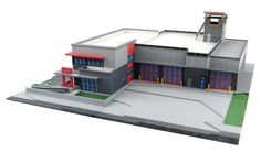 Fire Station Model. | #3DPrinted #3DPrinting #Architecture