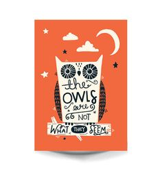 A3 Twin Peaks Art Print  'The owls are not what por stephsayshello