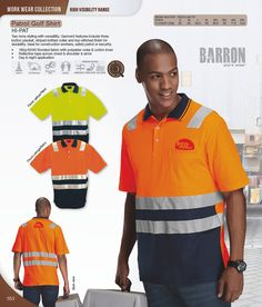 Reflective golf shirt - hi vis clothing South Africa Corporate Outfits, Corporate Gifts, Brand Innovation, Golf Shirts, South Africa, Work Wear, Polo Ralph Lauren, Conference, Mens Tops
