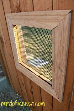 DIY Wooden Fence Window for Your Dog. Step by step blog on how to do it yourself. mindofmeesh.com