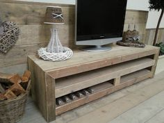 Steigerhout TV-meubel Jonas gemaakt van oud onbehandeld steigerhout