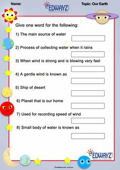 Science Worksheets, When It Rains, Innovation, Universe, Names, Education, Words, Children, School